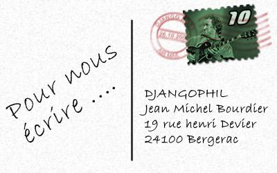 adresse postale Djangophil